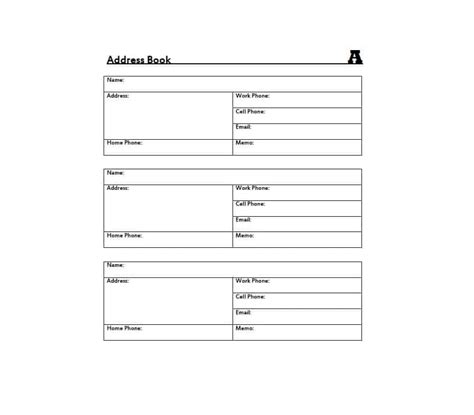 booklet templa on address book template record your important
