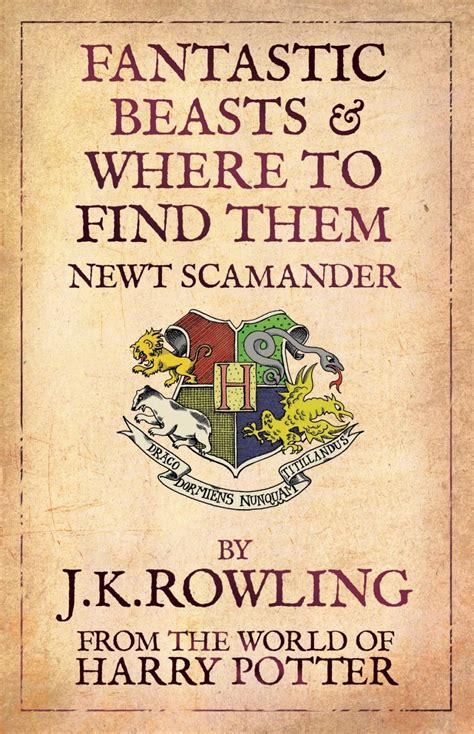 Fantastic Beasts And Where To Find Them By Newt Schamender J K Rowling To Script New Harry Potter Spin