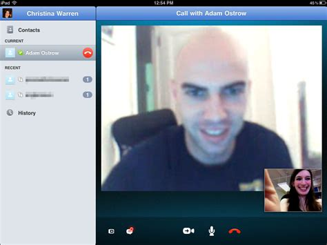 video call layout skype for ipad delivers on video calling dreams hands on