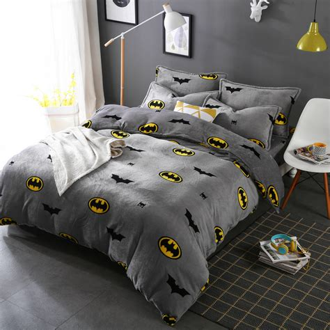 batman bedding queen boy girl cartoon winter warm sanding bedding set child batman twin queen king size