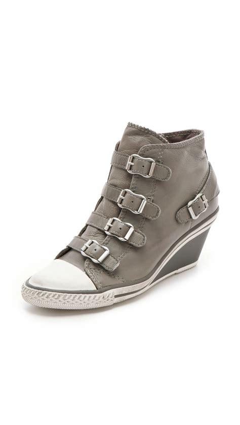 ash wedge sneaker ash genial wedge sneakers in gray lyst