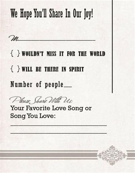 funny wedding invitation response card wording archives