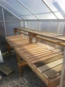 greenhouse shelves on greenhouse plans pallet
