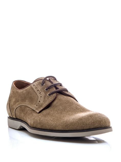 beige oxford shoes varvatos monaco oxford shoes in beige for lyst