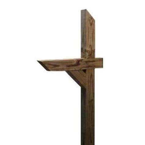 Shop Top Choice Treated Wood Wood Mailbox Post At Lowes Com