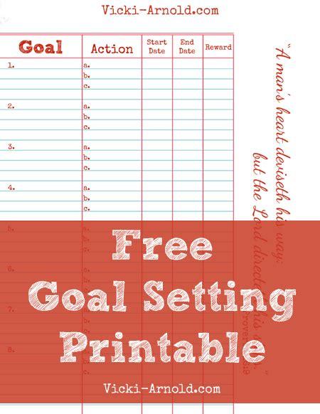free printable goal sheets free goal setting printable worksheet printable