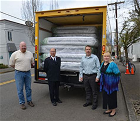 Salvation Army Mattress Donation by Northwest Division Sealy Donates New Mattresses To