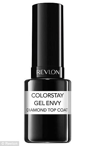 new revlon colorstay gel envy polishes worth the hype femail stacked five new non uv polishes against a salon