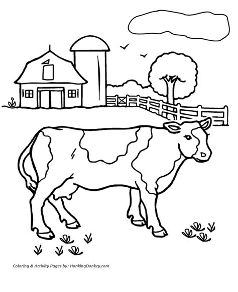 free free dairy cow coloring pages