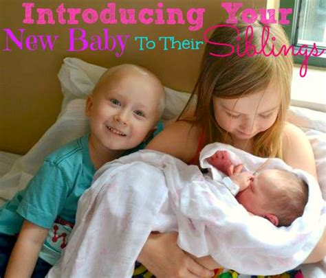 introducing to baby introducing your new baby to their siblings miss frugal