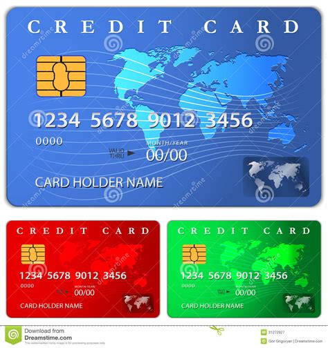 Credit Card Design Html Template credit or debit card design template stock vector image