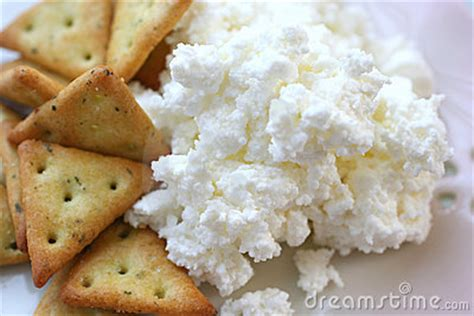 Cottage Cheese Crackers by Crackers With Cottage Cheese Stock Images Image 1462464