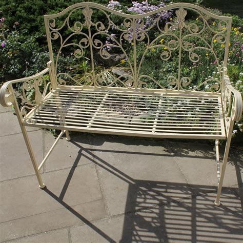 cream garden bench melody maison 174