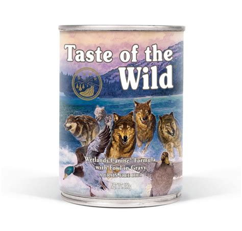 taste of the puppy feeding guide wetlands canine 174 formula with fowl in gravy taste of the