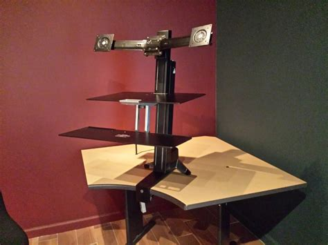 ergotron stand up desk standing desk 33 349 200 ergotron workfit s dual monitor
