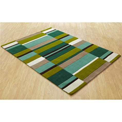 Jazz Rug by Green Jazz Blocks Wool Rug Carpet Runners Uk