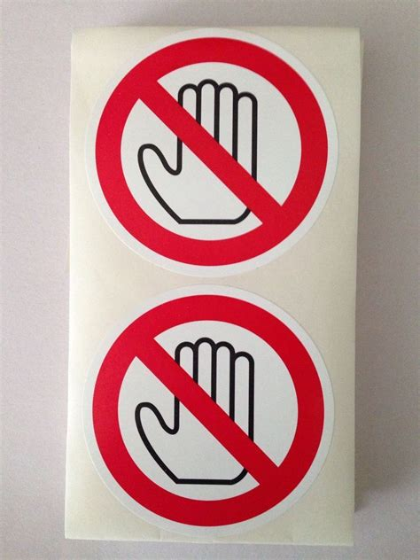 printable security stickers no touch sticker prohibited touching class standard