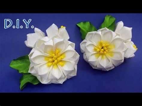 paper kanzashi flower tutorial d i y grosgrain ribbon kanzashi flower myindulzens