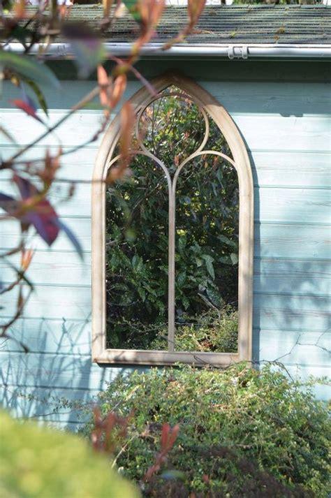 Buy Rustic Garden Outdoor Wall Mirror Chapel Window Design Outdoor Garden Wall Mirrors