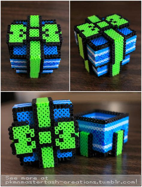 perler 3d ideas perler bead box pattern perler free engine image for