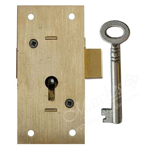 Kitchen Cabinet Locks With Key 2 Lever Cupboard Lock 75mm Kd Brass Locks Locks Catches Cabinet Kitchen Fittings