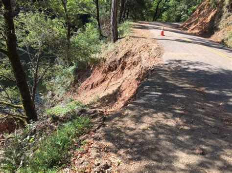 Marin County Section 8 by Fairfax Bolinas Road Remains Closed In Marin County San