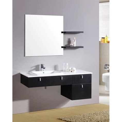 mobile con mensole mobile da bagno 120 nero con specchiera e mensole in