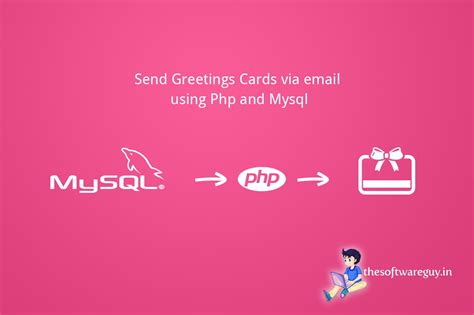 send greetings cards via email using php and mysql