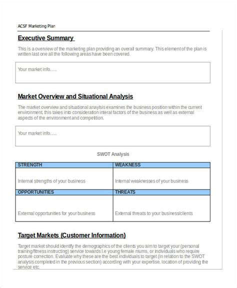 Personal Marketing Plan Exle 6 Marketing Strategy Plan Sle Confused About Marketing Use Personal Marketing Plan Template Free