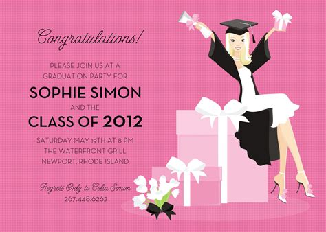 graduation party invitation wording invitation templates