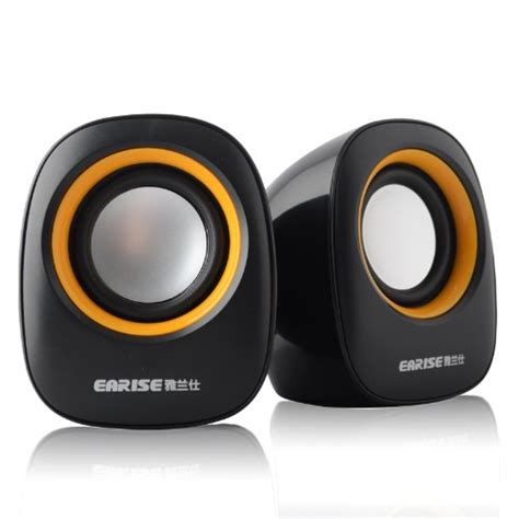 Speaker Komputer Speaker Laptop Speaker Murah Speaker Speaker Pc earise al 101 3 5mm mini computer speakers powered by usb black