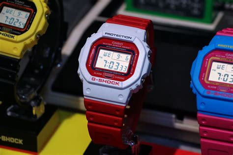 G Shock Black Blue List White g shock dw 5600tb throwback 80s fashion colors g