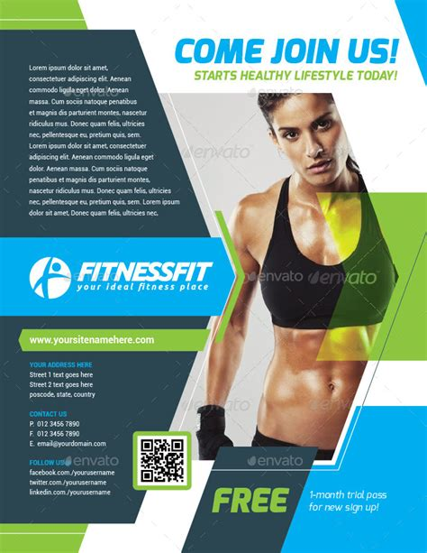 template flyer sport fitness sport flyer template vol 15 by kitcreativestudio