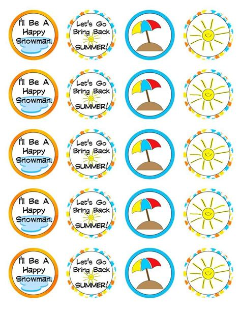 printable olaf tags frozen inspired round printable labels snowman olaf