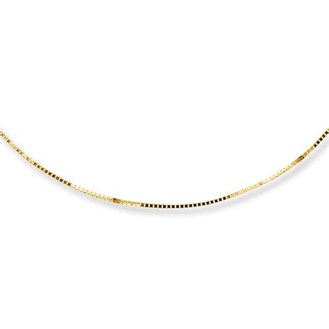 box chain necklace 14k yellow gold 18 quot length