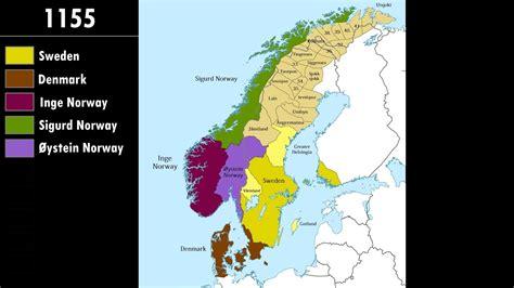 map of scandinavian countries history of scandinavia every year