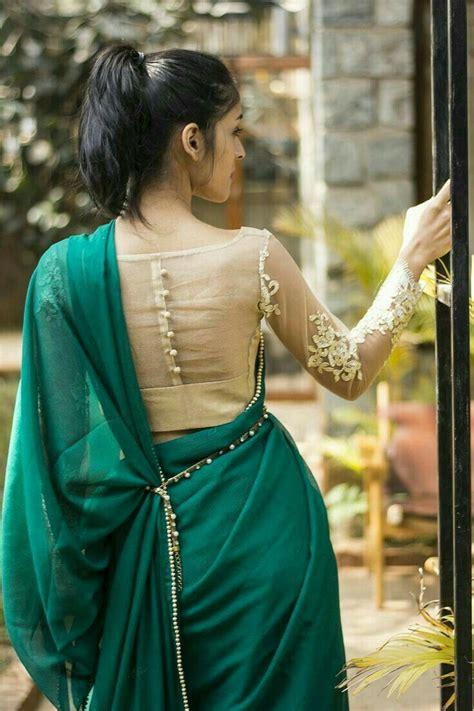 blouse pattern in pinterest plane green saree indian saree pinterest saree