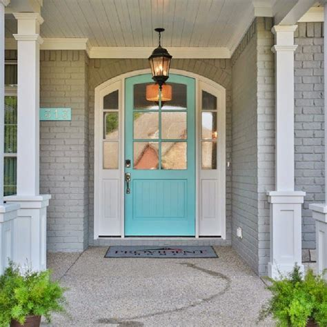door accent colors for greenish gray 17 best ideas about brick house colors on brick house exteriors painted brick