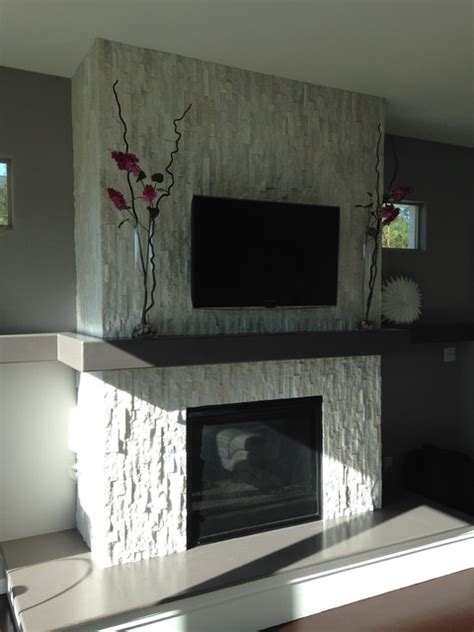 glacier white fireplace surround