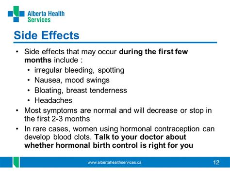 birth control side effects mood swings contraceptive methods ppt download