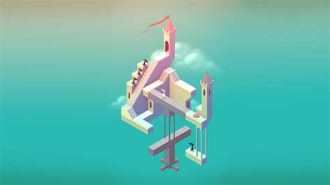 wallpaper monument valley game monument valley clouds 4k ultra hd wallpaper and