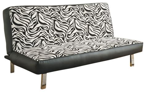 zebra print sofas coaster zebra print convertible sofa transitional