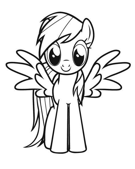 printable coloring pages my little pony free coloring pages of my little pony rainbow dash