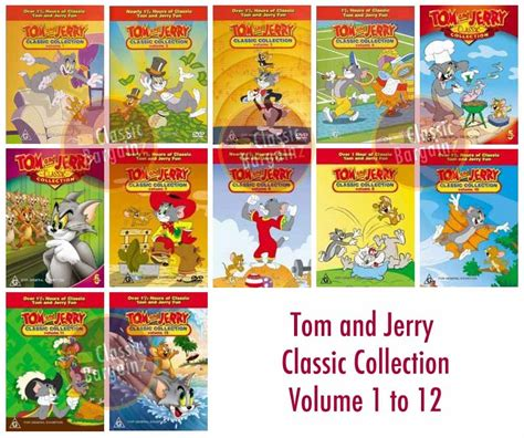 how to a the a collection volume 1 books tom and jerry classic collection vol 1 12 dvd set new