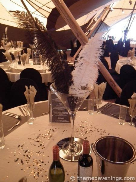 the great gatsby theme night great gatsby themed centerpieces theme night or any