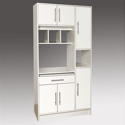Formidable Hauteur Meuble Salle De Bain #4: L001MCU6037130-0101-2250-p01-buffet-microondes-portes-tiroir-niches-bois-l88xp40xh180cm-kitchen.jpg