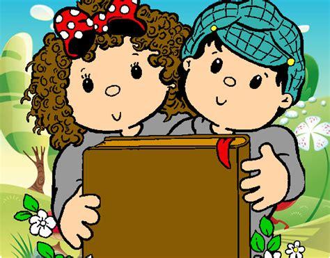 imagenes infantiles niños leyendo ni 241 os leyendo libros dibujo imagui