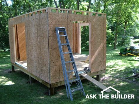 how to build a backyard shed how to build a shed ask the builderask the builder