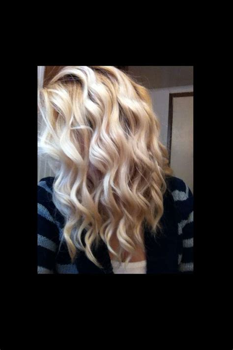 pictures of hair curled with wand wand curls my hair and blonde curls on pinterest