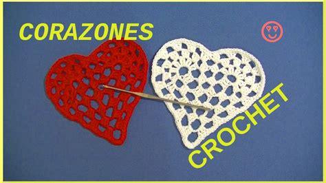 corazones romanticos youtube corazones rom 225 nticos san valent 237 n en tejido crochet o